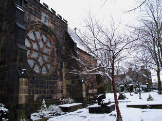 Church and Snow by Ravven-Stock