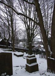 Graveyard and Snow 1 by Ravven-Stock