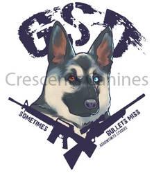 German Shepherd Dogs. Because sometimes, guns miss