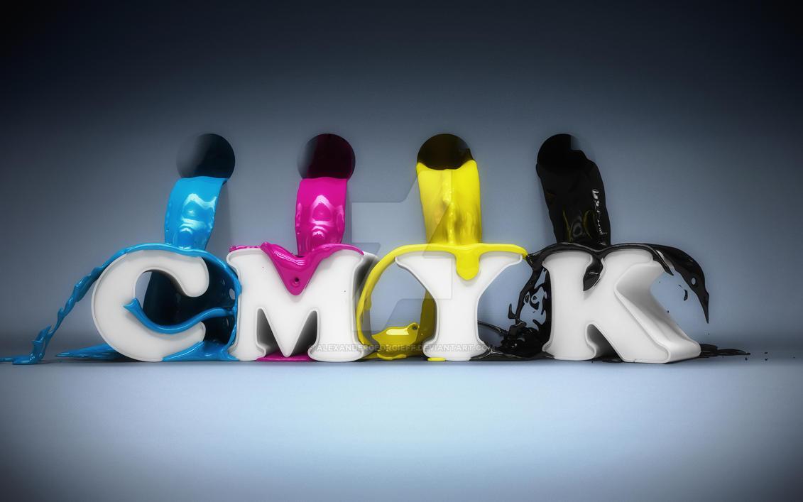 CMYK 3D Render by alexandergeorgieff
