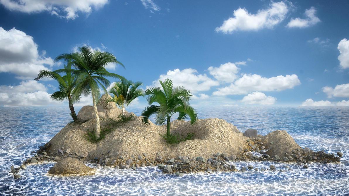 island 3d picture wallpaper - photo #2