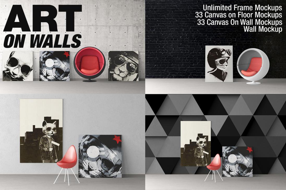 Art On Walls - Canvas, Frames, Walls Mockups by alexandergeorgieff