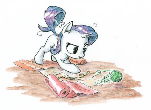 Miss Rarity is busy