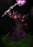 Undead Warlock by slinkyonion