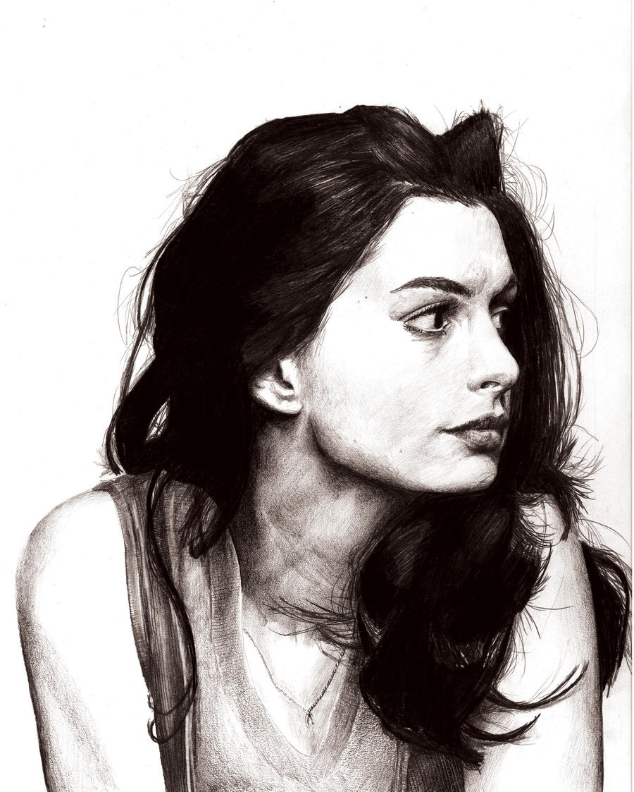 Anne Hathaway Drawing: Anne Hathaway Sketchiness By Logankoontz On DeviantART
