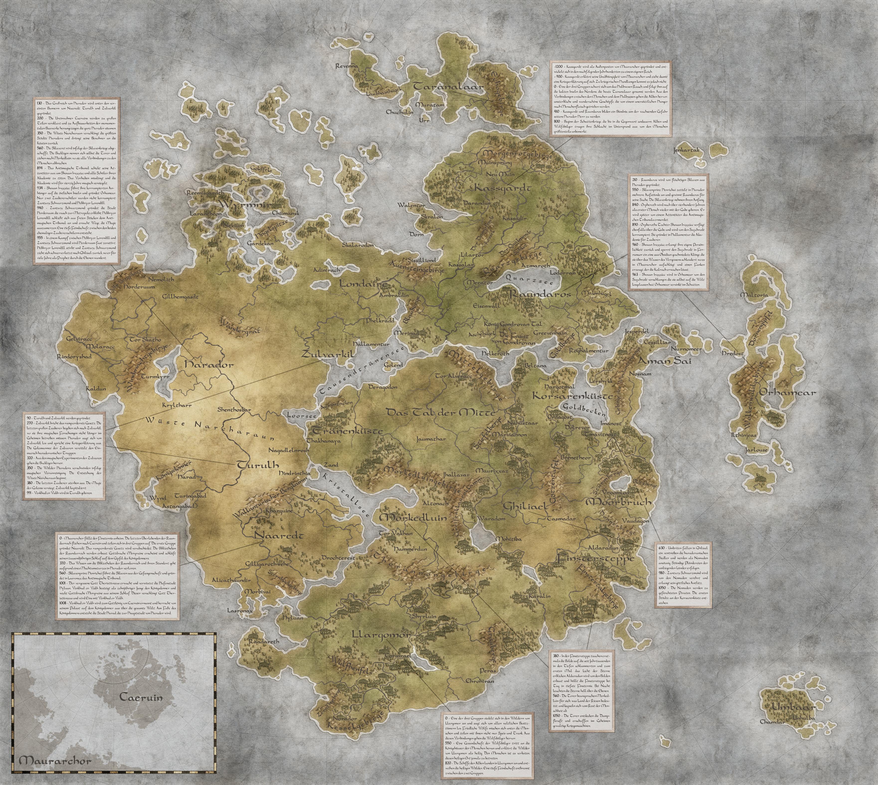 Worldmap of Caeruin 2 by Quabbe