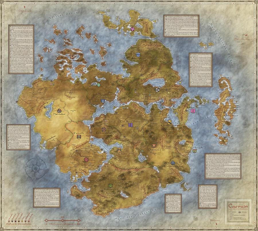 Worldmap of Caeruin 3 by Quabbe
