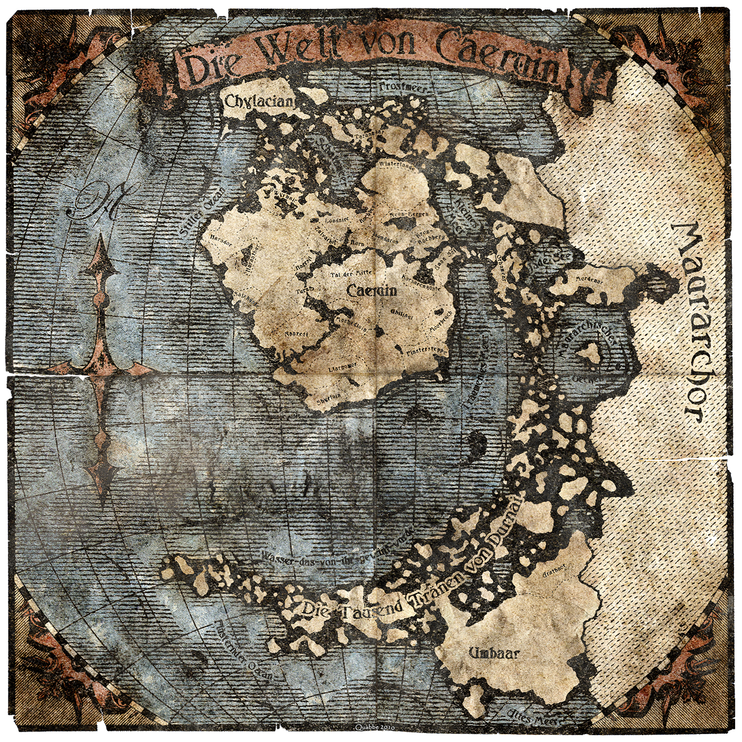 Worldmap of Caeruin 4 by Quabbe