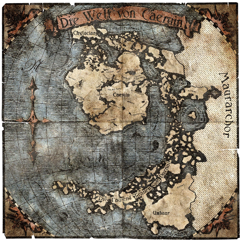 Worldmap of Caeruin 4 by Quabbe