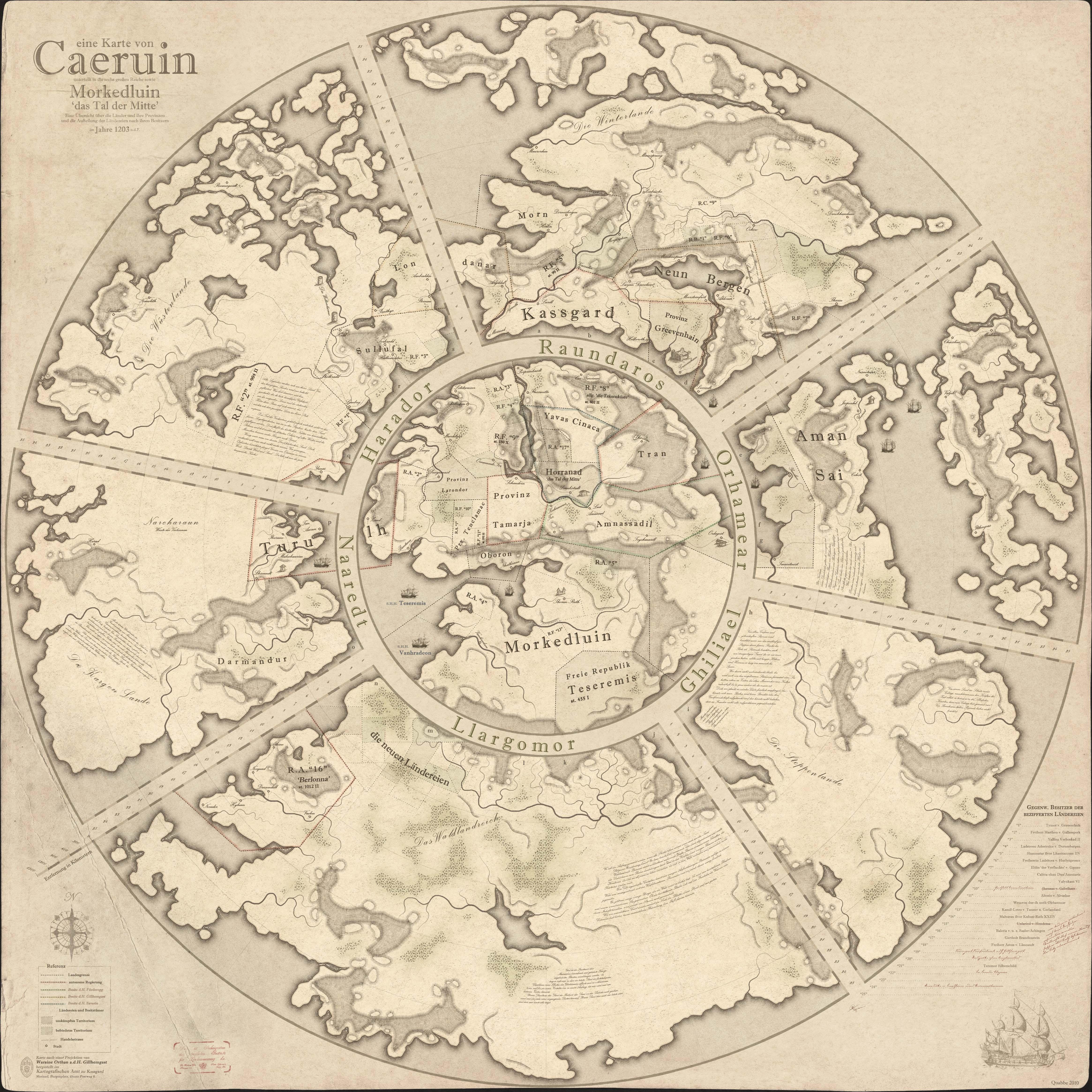 Worldmap of Caeruin 5 by Quabbe