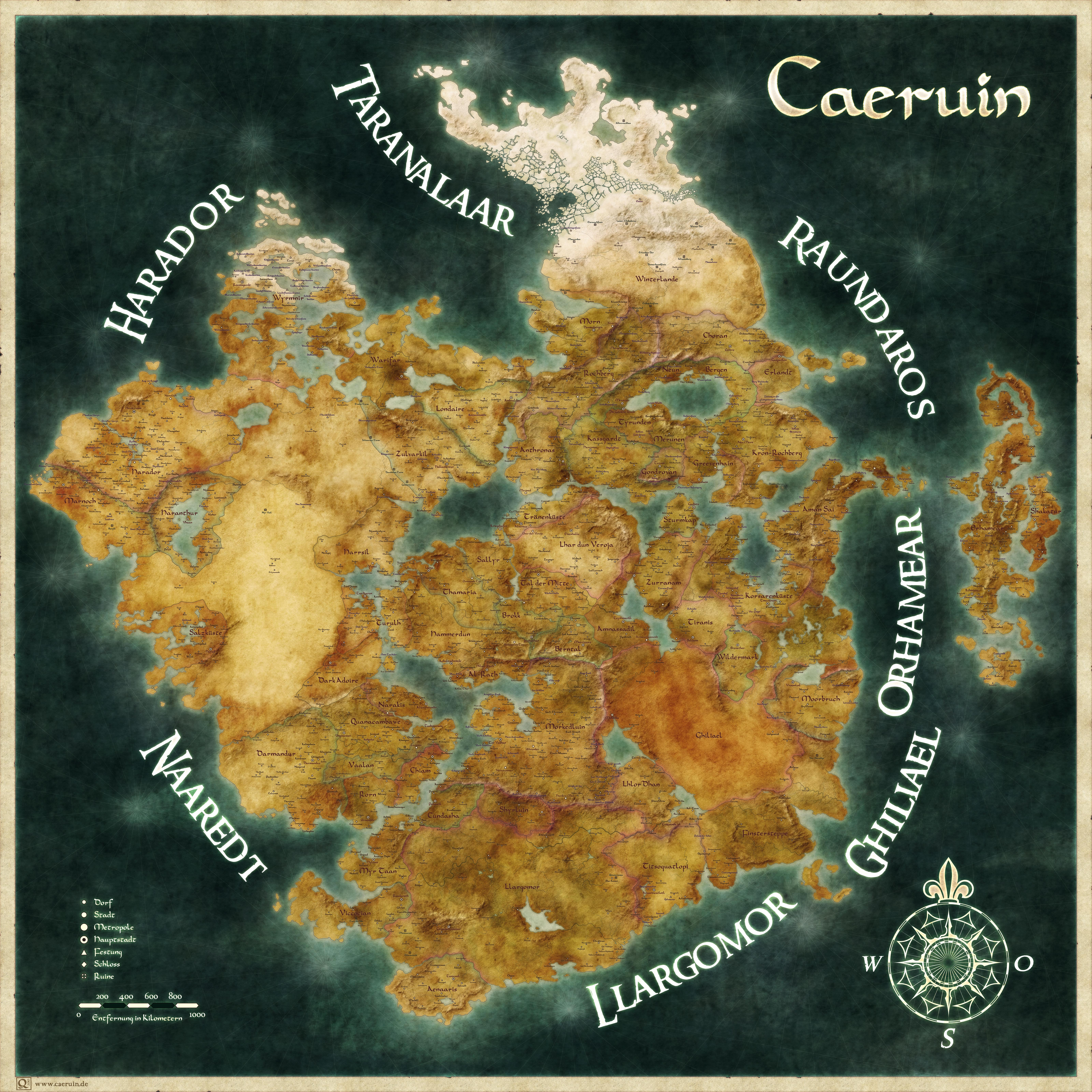 Worldmap of Caeruin 6 by Quabbe