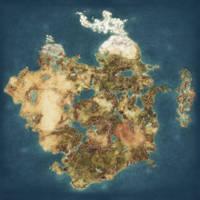 Blank Fantasy Map - High Resolution