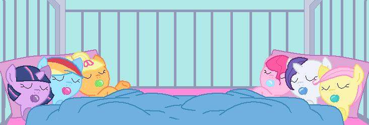 MLP: The girls as newborn foals by xXxtamdasexmonoxXx