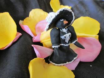 Penguin in Fancy Black Dress by audreymika
