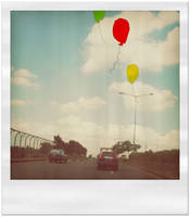 the balloons fly up in the sky by aihtuya
