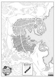 Map of Qyaeran city (Niil, fantasy world)
