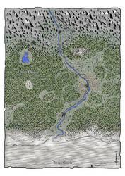 La marche du Septentrion (fantasy map)