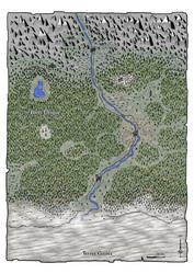 La marche du Septentrion (fantasy map)