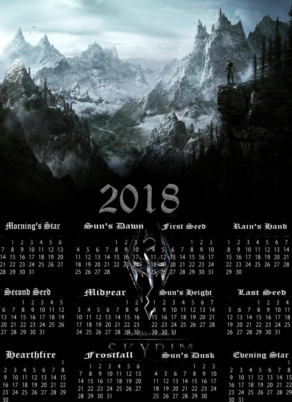 Skyrim Calendar by Stealthweaver on DeviantArt