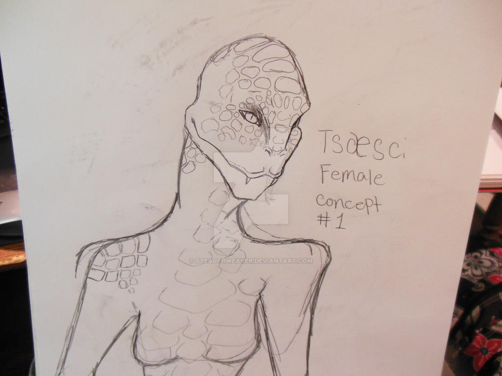 Tsaesci female concept by Stealthweaver