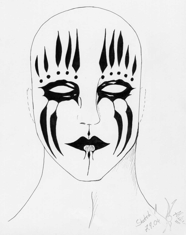 Mask of Joey Jordison by Alatier on DeviantArt