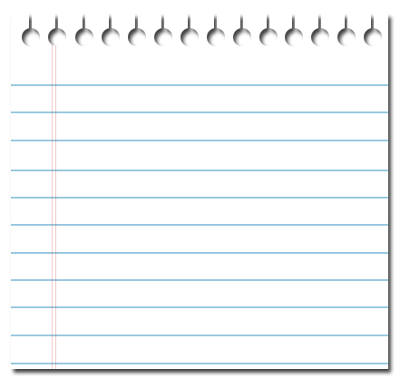 Lined sheet of paper