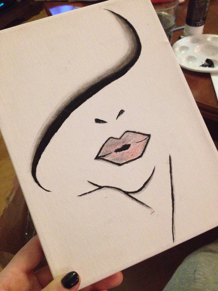 Simple illustration painting by visualq on deviantart for Cool paintings easy