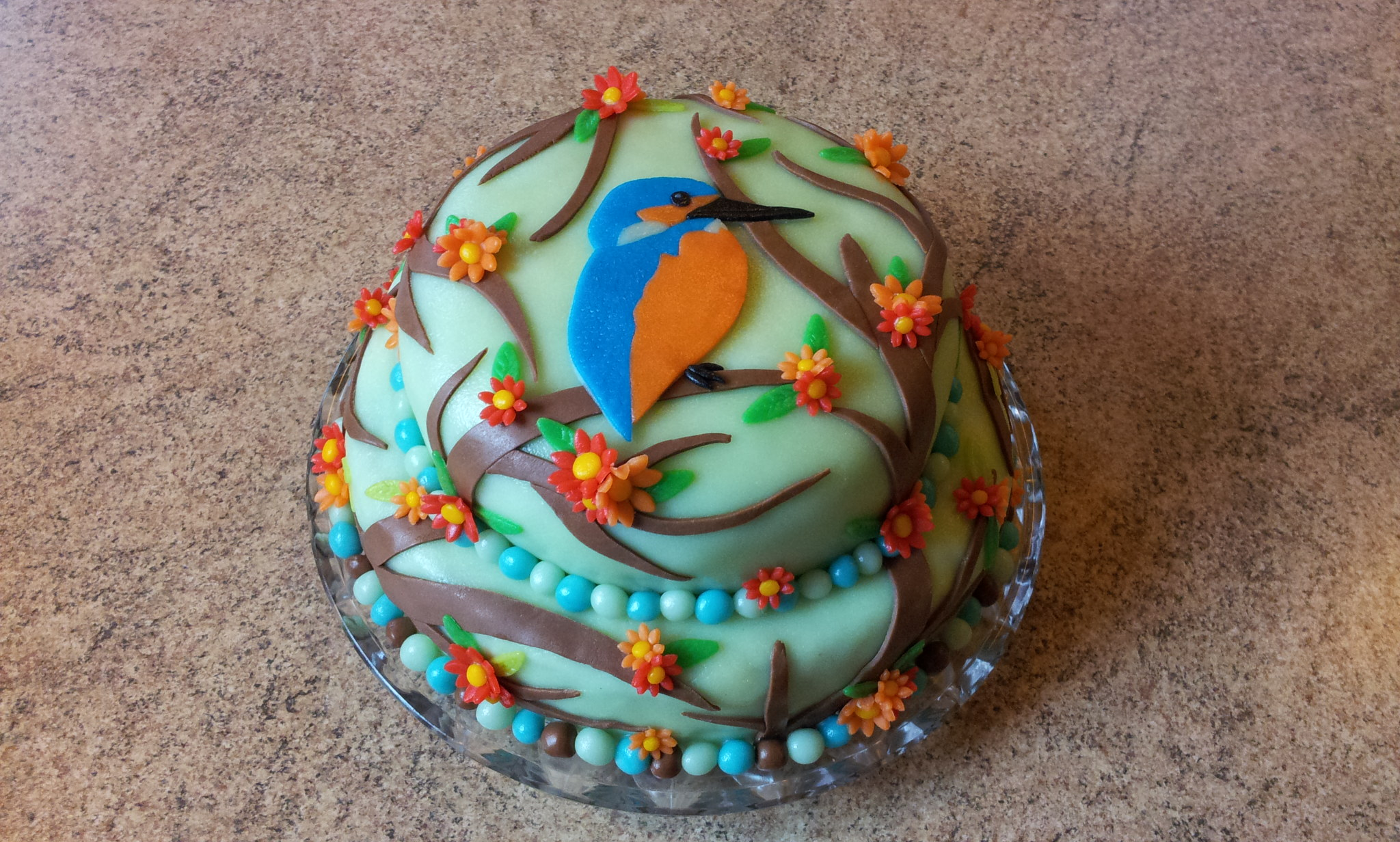 Kingfisher Birthday Cake by LauraBakery on deviantART