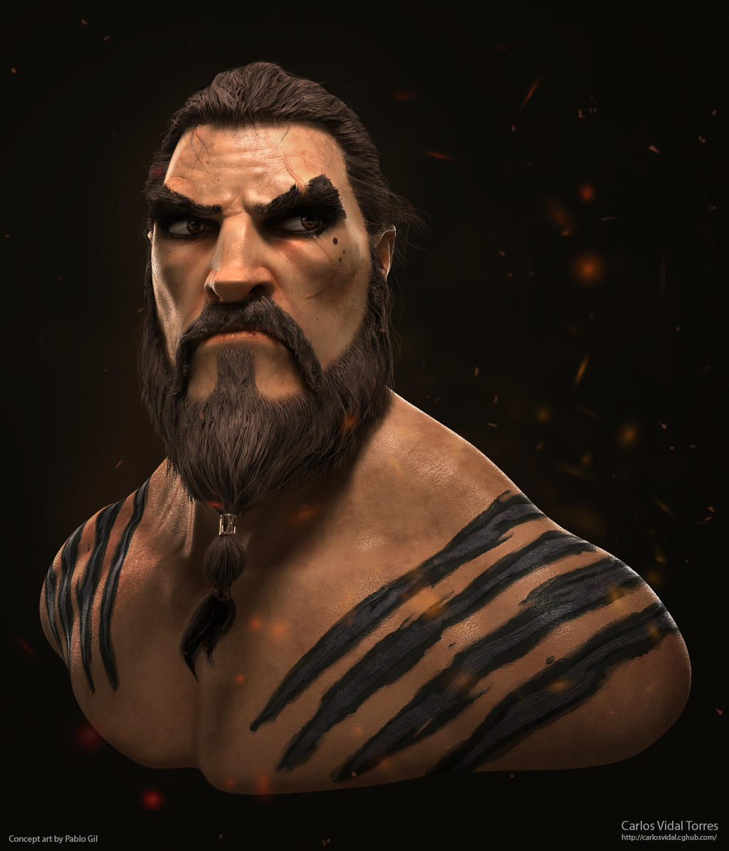 Khal Drogo fan art. by CarlosVidalTorres