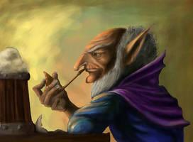 Goblin wizard by Tygodym