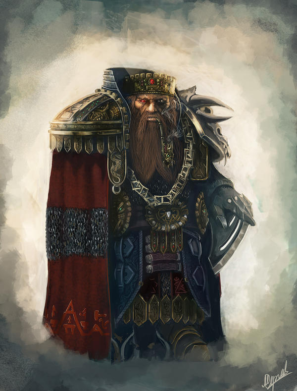 dwarf king art by Tygodym