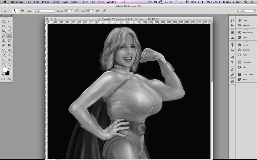 Power Girl version 2 zoomed out by chilli49shorty