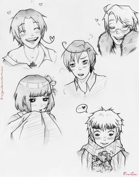 Hetalia sketches