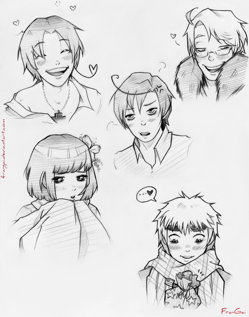 Hetalia sketches by fra-gai