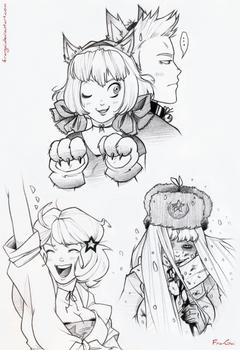 Hetalia sketches II