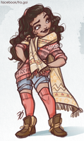 Moana: New look by fra-gai
