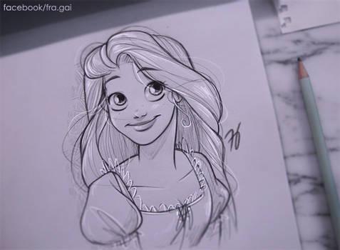 Sketching Rapunzel