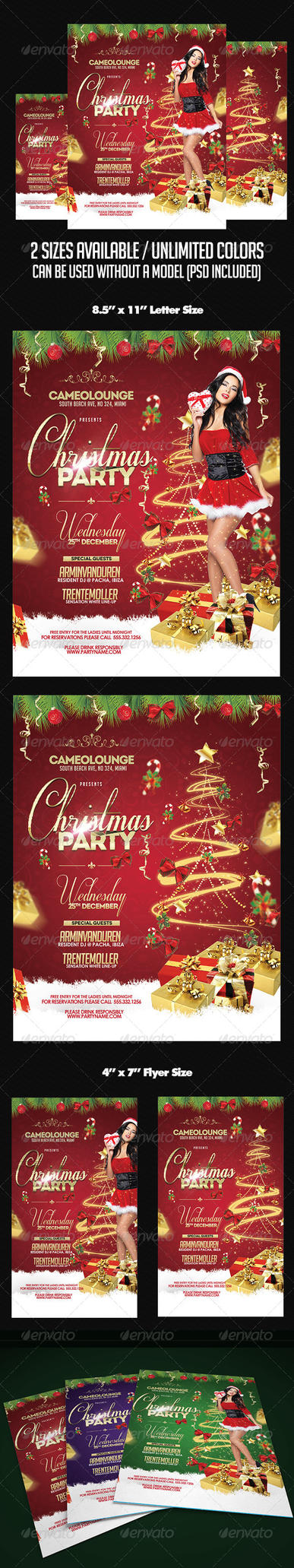 CHRISTMAS FLYER 2014 PSD by AudioNeptune
