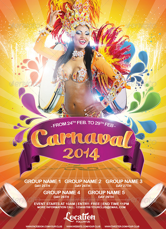 Carnival 2014 Flyer Template by AudioNeptune on DeviantArt