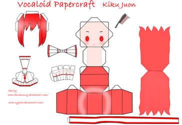 Chibi Kiku Juon Papercraft by Syjana