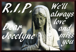 RIP Our dear Jocelyne (stamp) by MEP4Photography