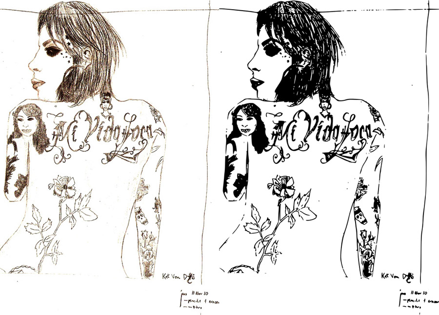 kat von d, vector, inked by assignation