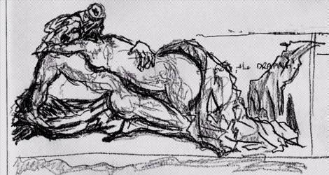 Embrace, prelim sketch