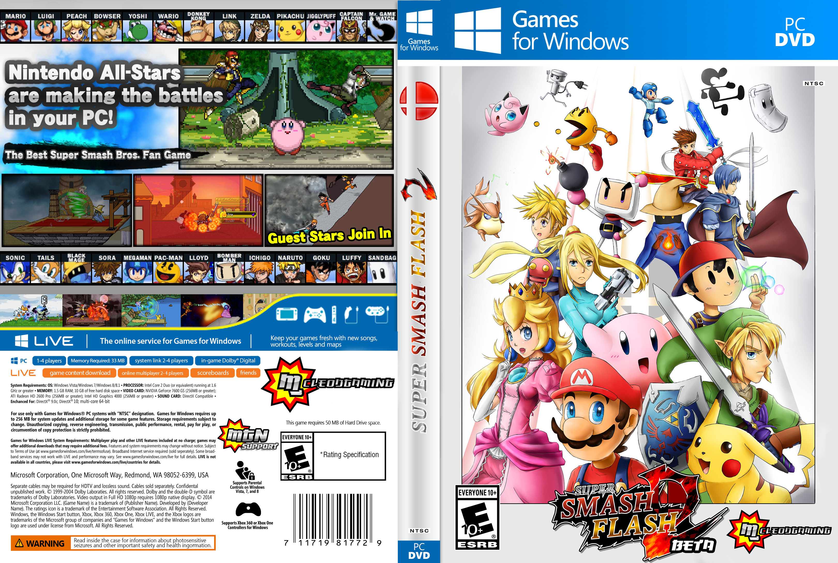 Super Smash Flash Beta Box Art Raythefox