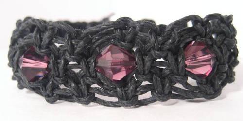 Swarvoski Hemp Bracelet