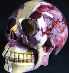 Mookaite Jasper Skull 001d