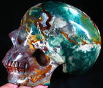 Indian Agate Skull 001e