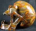 Bamboo Jasper Skull 001e