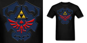 LOZ Dark Link Shield Shirt