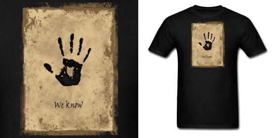 Skyrim Dark Brotherhood We Know Note Shirt by Enlightenup23